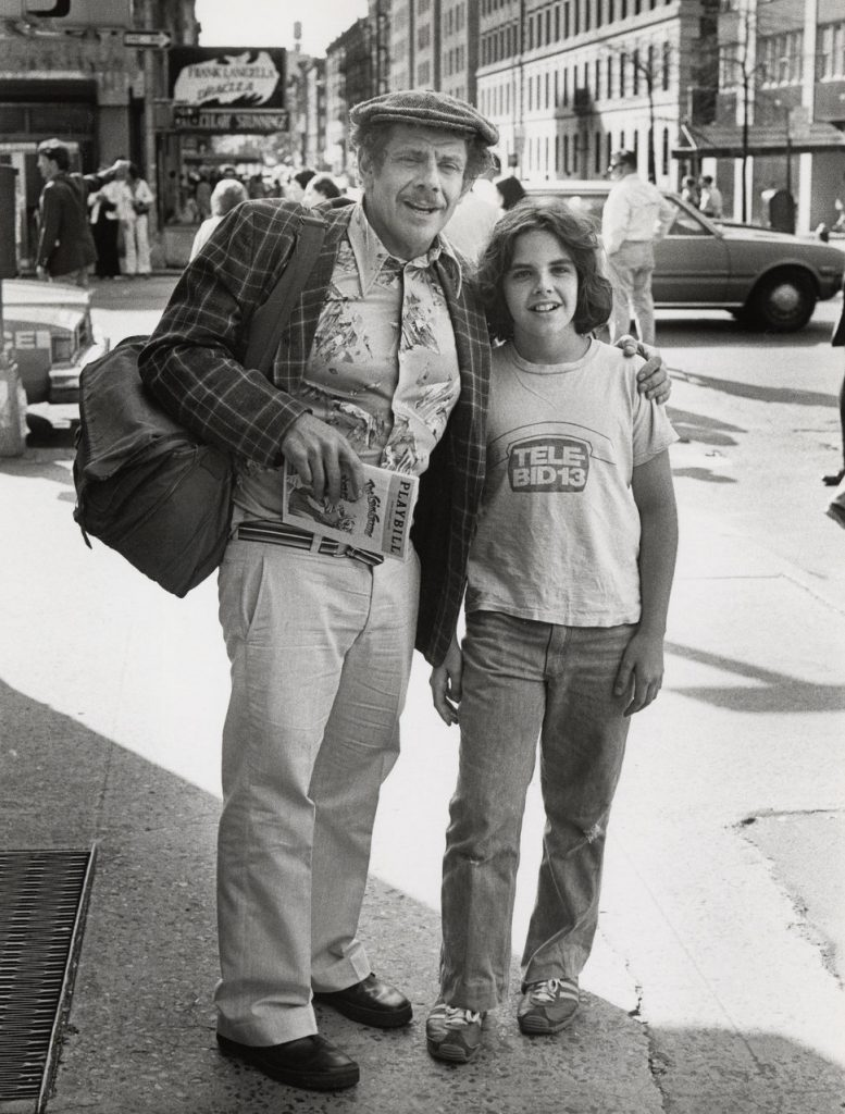 Jerry Stiller & Ben Stiller; photo Ron Galella